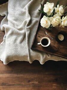 Linen plaid. Linen throw blanket. Summer blanket. 100% linen. Bed cover.  Eco.