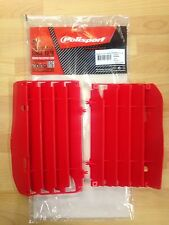 HONDA CRF 450 R CRF450 R 2009-2012 POLISPORT RADIATOR LOUVRES RAD GUARDS  RED