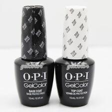 OPI Gelcolor Soak off Gel Base & Top Coat 0.5 oz / 15 ml each Duo Set GC 010 030