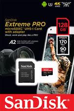 Genuine Sandisk 128GB Extreme Pro Micro SD SDXC Card, V30, A2 170Mb/s, UK Seller