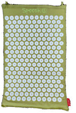 """Spoonk Space Hemp Acupressure Massage Mat With Carry Bag Seagrass Green 26""""X16"""""""