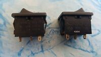 2 X  KEMET CANAL MR-2 , SINGLE POLE ROCKER SWITCHES UP TO 20A 125VAC ON - OFF