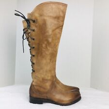 Area Forte Womens Leather Distressed Brown Tall Boots Size 6.5