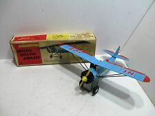 BRISTAL BULLDOG AIRPLANE MINT IN BOX BATTERY OPERATED MADE IN JAPAN
