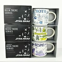 Disney Star Wars Starbucks Been There Series Mugs Hoth Dagobah Bespin Set Of 3