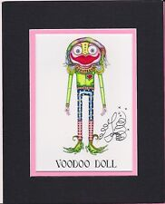 BOY VOODOO DOLL PRINT, Jamie Hayes, NEW ORLEANS, SIGNED & MATTED GICLEE 8X10