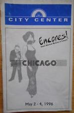 Bebe Neuwirth James Naughton Ann Reinking Playbill Chicago City Center Encores!