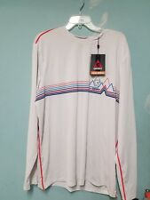 Men's Gerry Quick Dry L/S Performance Tee, White, Xxl Nwt