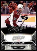 2020-21 UD MVP Silver Script #175 Nazem Kadri - Colorado Avalanche