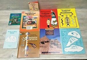 9 Books Southwest Indian Educational Unit Lot Coloring Activities Learning