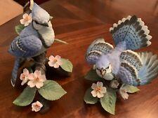 New ListingLenox Garden Birds Female Blue Jay ( 1995) and Blue Jay porcelain figurines