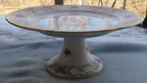 Bavaria Schumann Empress Dresden Flowers Footed Compote Serving Stand