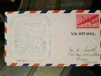 US Stamps 1944 Continental Air Lines Rte. 60 Denver First Flight Air Mail Cover