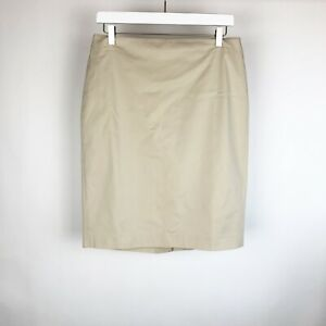 Ann Taylor Womens Skirt Size 6 Beige Cotton Lined