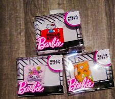 Barbie Hello Kitty Lot of 3 Fashion Tops. New in Box. Free Shipping!