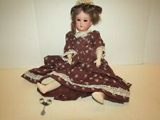 Vintage Doll 390 Armand Marseille 19 Inch Jointed Body Porcelain Bisque Head