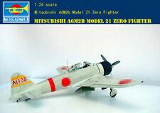 Trumpeter 1/24 02405 Mitsubishi A6M2b model 21zero Fighter model kit