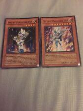 Yugioh Silent Magician LV4 + Silent Magician LV8 Holo Rare Nice !