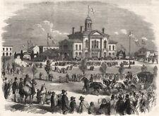 Buffalo & Lake Huron Railway: Cérémonies d'ouverture à Goderich, Canada West, 1858