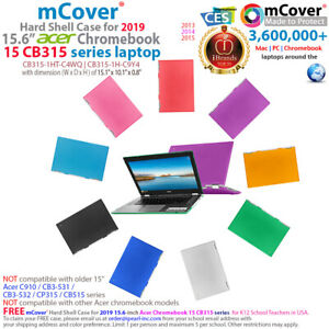 "NEW mCover® Hard Case for 2019 15.6"" Acer Chromebook 15 CB315 laptop computer"