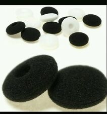 6 pair black & White Ear pads earphone sponge 15mm-18mm soft sponge foam cover