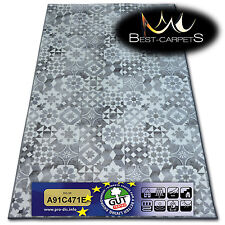 Best Carpets Hardwearing Soft MAIOLICA grey LISBOA Stain Resistant Stairs Rugs