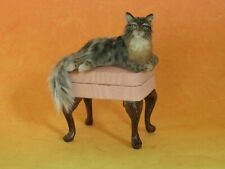 OOAK Dollhouse 1:12 miniature cat long haired  ~ Handmade IGMA Artisan JParrott