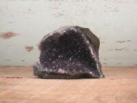 Amethyst Quartz Crystal Geode Natural Display Brazil 1lbs 0oz {H2223HI}