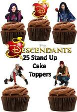 DISNEY discendenti Commestibili Wafer card stand up DECORAZIONI PER TORTA x 25