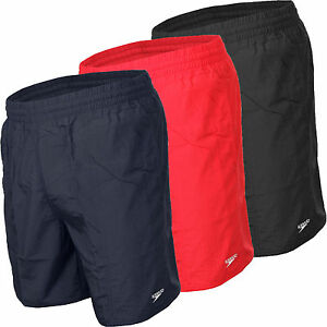 SPEEDO BOYS SOLID SWIMMING SHORTS TRUNKS ASSORTED COLOURS AGES 6-11 YEARS