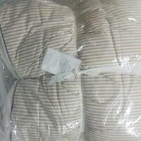 Pottery Barn Wheaton Stripe Sherpa King Comforter Khaki