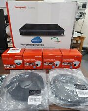 Honeywell Video Security System 4 Cameras Network Video Recorder with Monitor