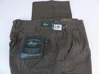 GH Bass & Co Maine Canvas Terrain Pants Rugged Cotton Cargo Pant NWT Brown $80