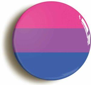 BISEXUAL FLAG LGBT GAY PRIDE BADGE BUTTON PIN