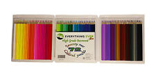 72 Colored Pencil Crayons, Value Pack, High Grade, 100% Treated Basswood,