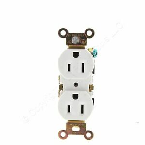 GE Electric White Residential Duplex Receptacle Outlet 5-15 15A 125V Bulk 5320-W