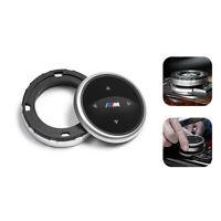 Silber Kleine Multimedia-Knopfabdeckung IDRIVE-Taste M /// für BMW F10 F20 F30