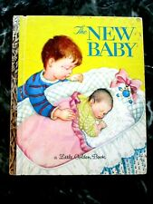 Vintage Little Golden Book THE NEW BABY Eloise Wilkin 1972 29 cent cover