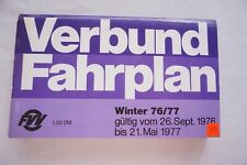1976 77 Germany Deutsche Bundesbahn Train Railway Timetable DB Verbund Fahrplan