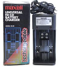 2 PCS MAXELL KB-8E UNIVERSAL Ni-CD BATTERY CHARGER SIZE AAA AA C D 9V BATTERIES