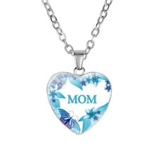 Gifts For Her Mothers Day MOM Gift Heart Necklace pendant gift Chain Jewelry