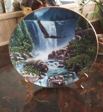 Sanctuary Falls Danbury Mint Ltd Edition Numbered Plate by John Van Straalen Euc