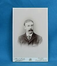 1880/90s Cabinet Card Photo Gentleman With Fine Moustache Sachs Bradford