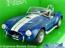 SHELBY AC COBRA 427 MODEL CAR 1:24 SCALE BLUE WELLY OPENING PARTS LARGE 1965 K8