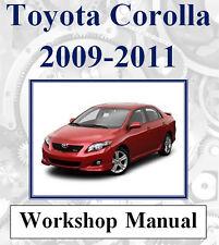 TOYOTA COROLLA 2009 2010 2011 WORKSHOP REPAIR SERVICE MANUAL DIGITAL DOWNLOAD