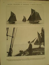 Photo article racing trawlers at Brixham Regatta 1928 ref Y2