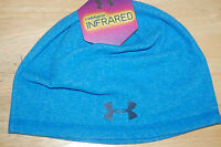 under armour mens survival coldgear infrared beanie hat blue osfa style 1262145