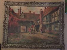 Oil Painting by Leonard Carr Cox (1879-1950), Huntsmen in Courtyard 44 x 60cm