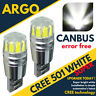 2 X ERROR FREE CANBUS 501 SMD LED SIDELIGHT WHITE BULBS XENON T10 W5W 194 HID