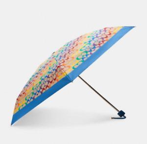 Coach Mini Rainbow Umbrella C4324 UV Protection Signature NWT $78